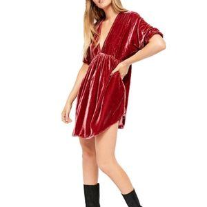 Free People NWT XS Ivy Velvet Tunic/Mini Dress